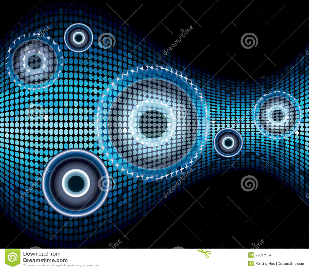 Music Sound Wave Abstract Background Stock Vector