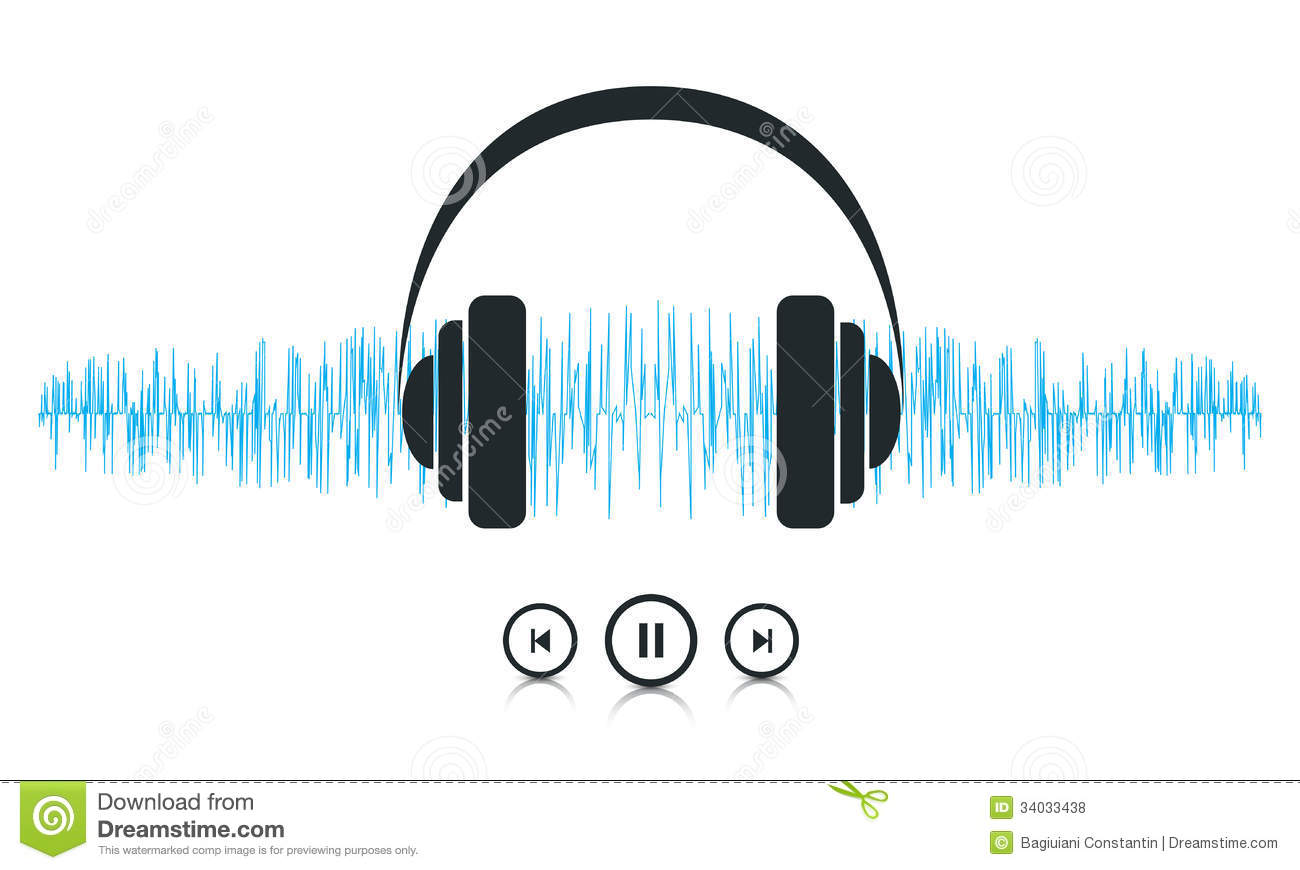 ... is a vector file representing a sound waves music player concept