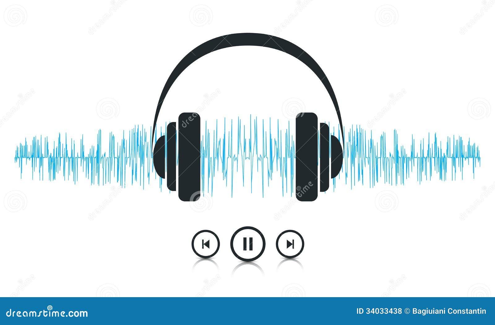 music sound waves stock vector illustration of modern 34033438 rh dreamstime com sound wave vector images sound wave vector download