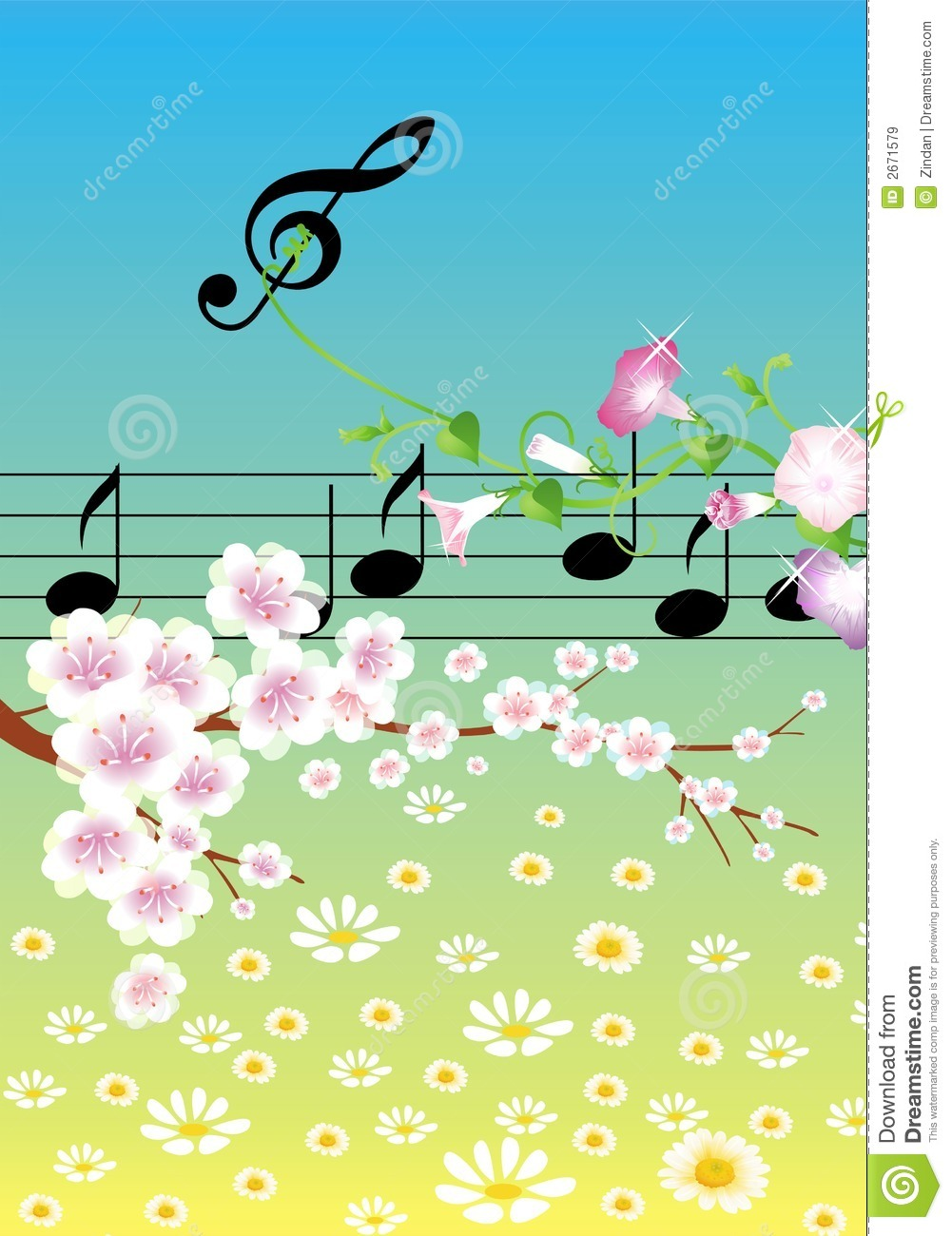 Music In Spring Royalty Free Stock Images - Image: 2671579