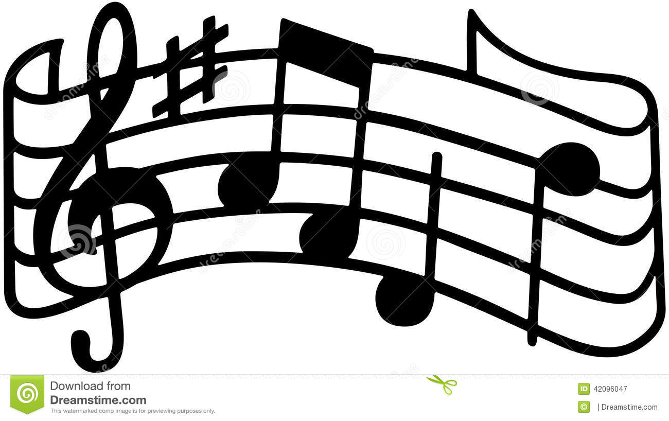 Music Staff Stock Vector Image 42096047
