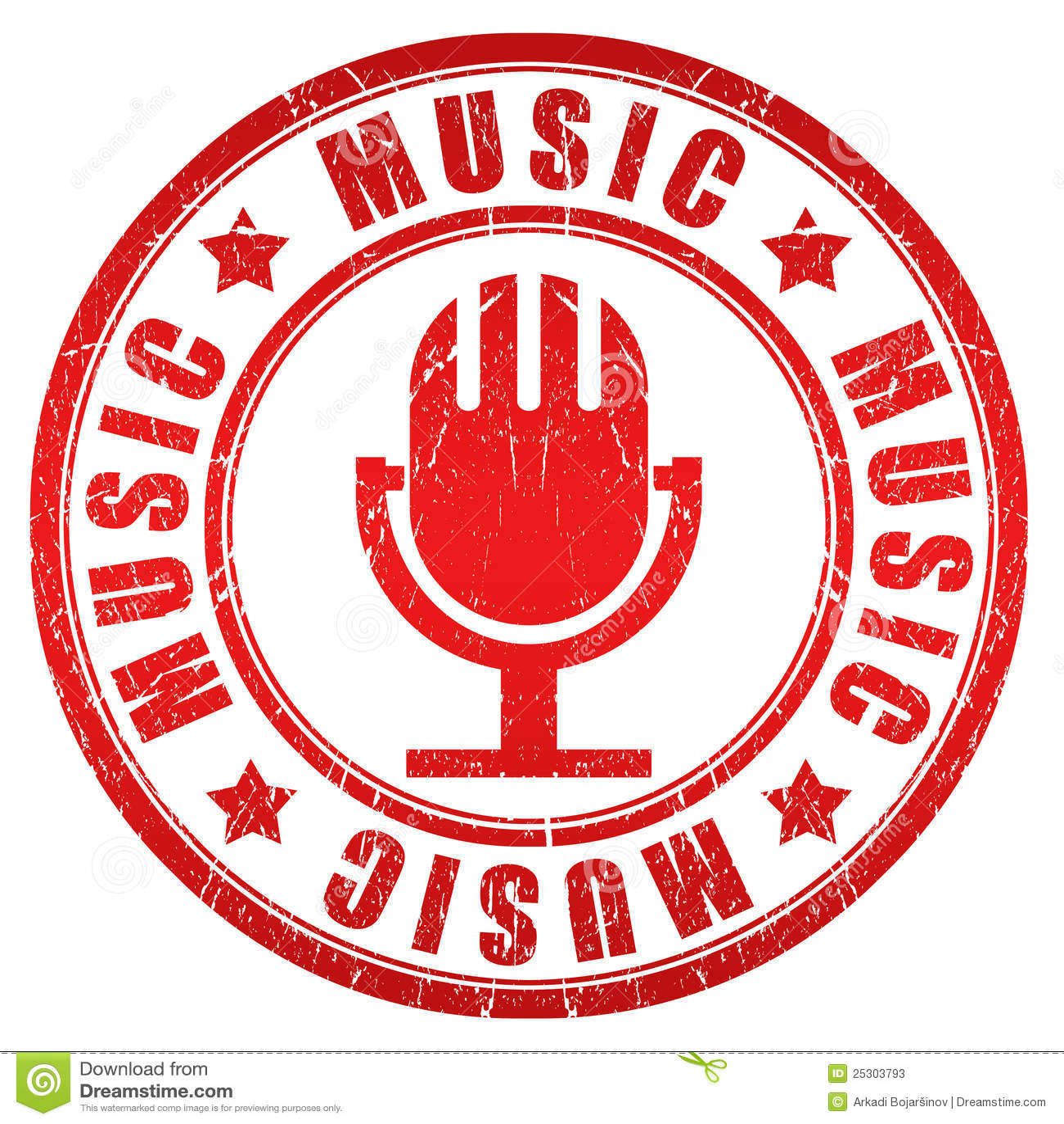 Music Stamp Stock Illustration Illustration Of Isolated