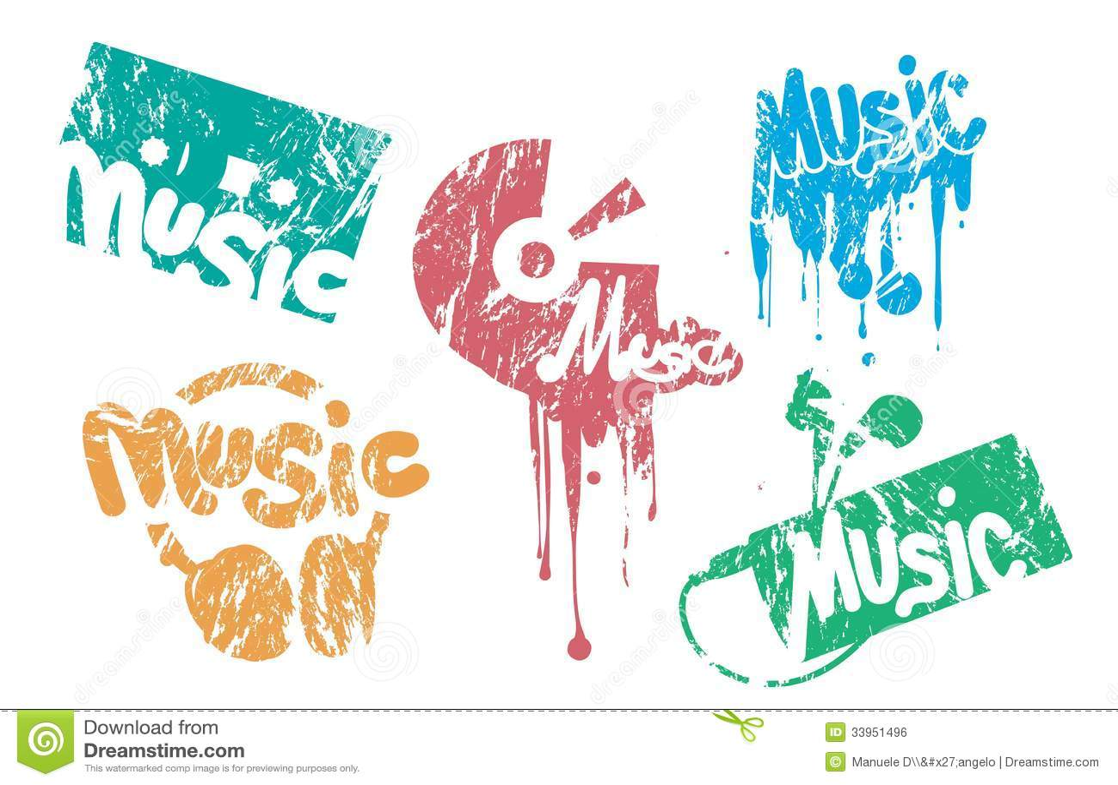Music Stamp Stock Vector Illustration Of Play Album