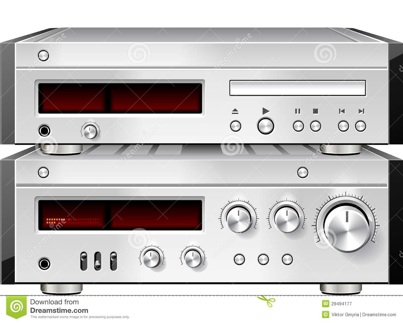 Music Stereo Audio Compact Disc Cd Player With Amplifier