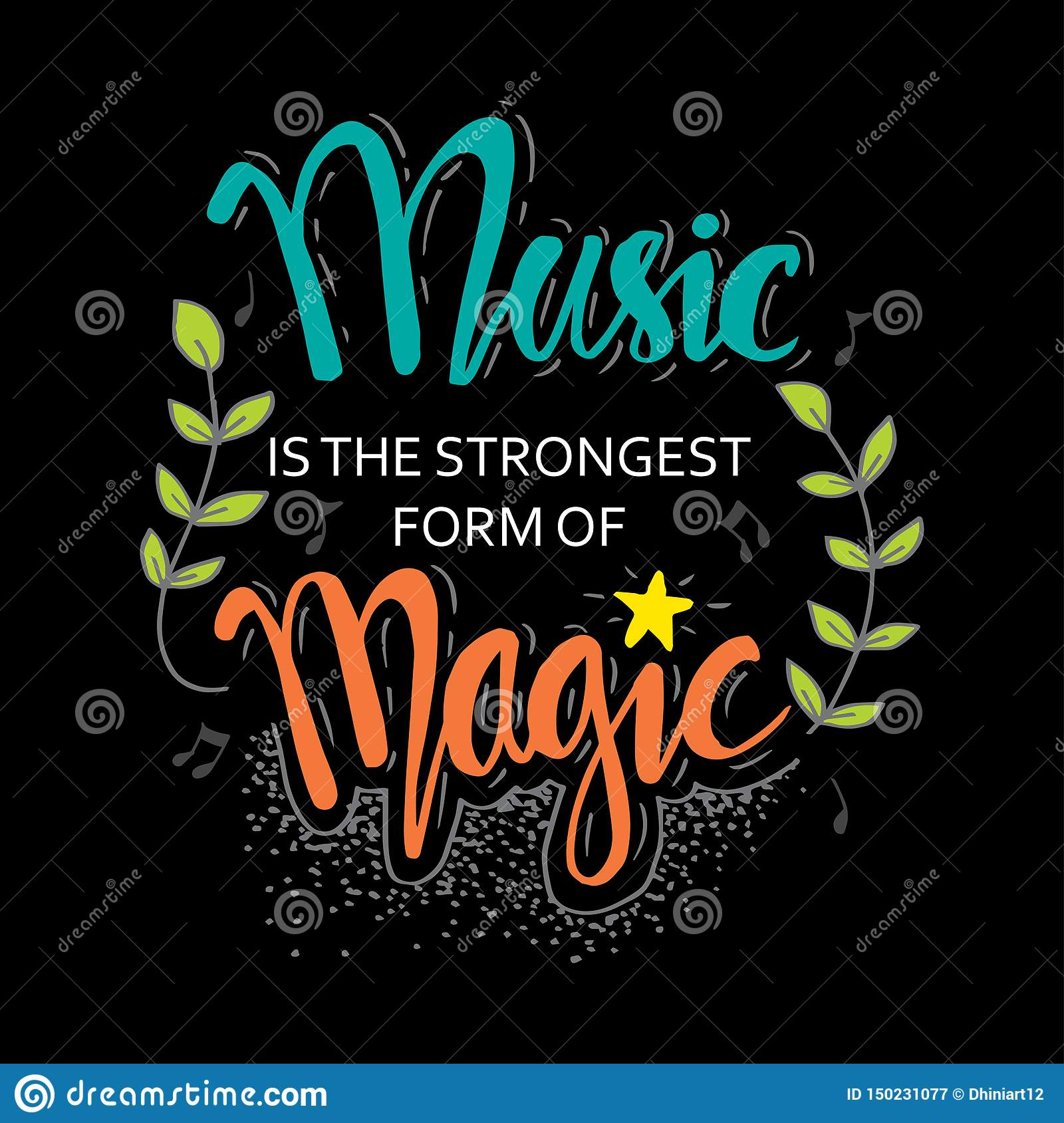 Music Quotes Stock Illustrations – 8 Music Quotes Stock