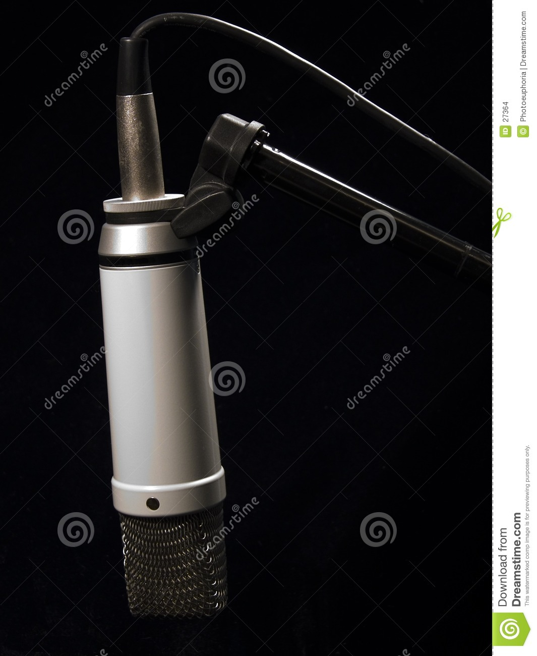 Download Music: Studio Mic on Stand stock photo. Image of enregistrent - 27364