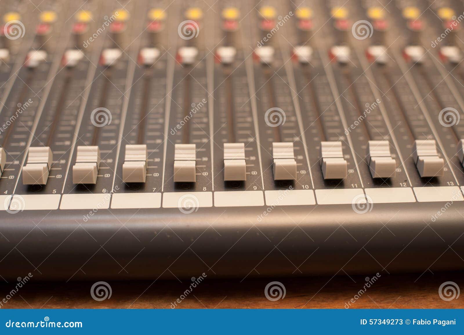 Music Studio Mixer Detail Stock Photo Image 57349273