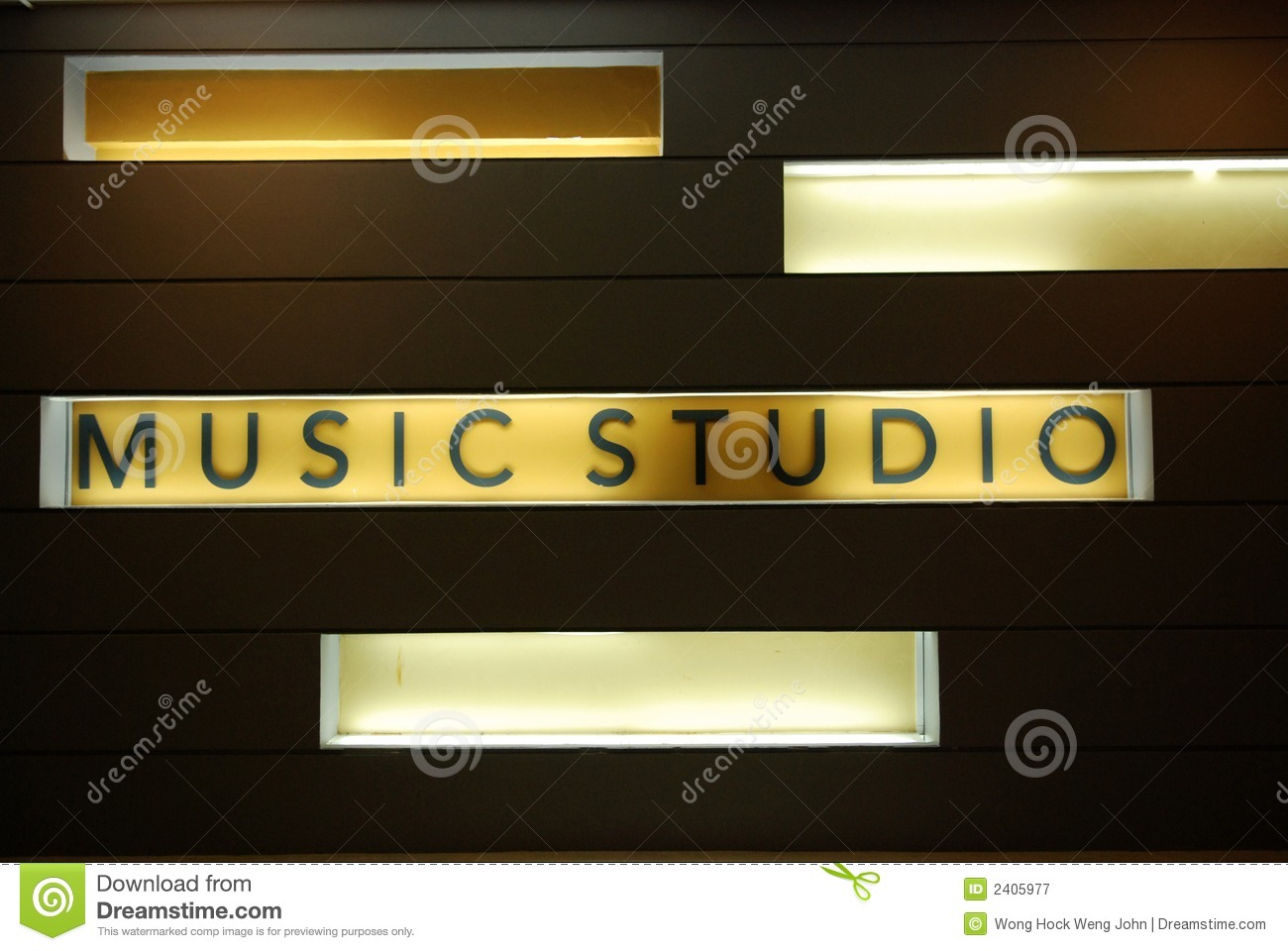 Music Studio Room Royalty Free Stock Photography Image