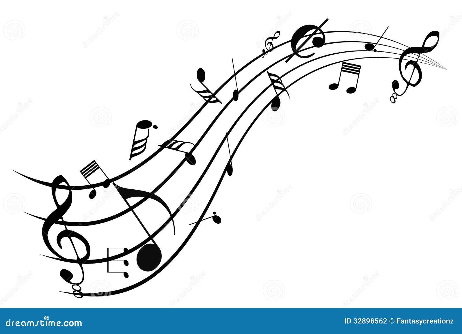 Music Swirl Stock Photography Image 32898562