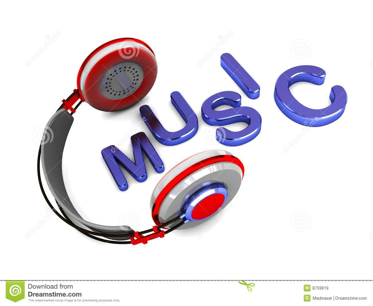Music Symbol Stock Illustration Illustration Of Headphones 8759619