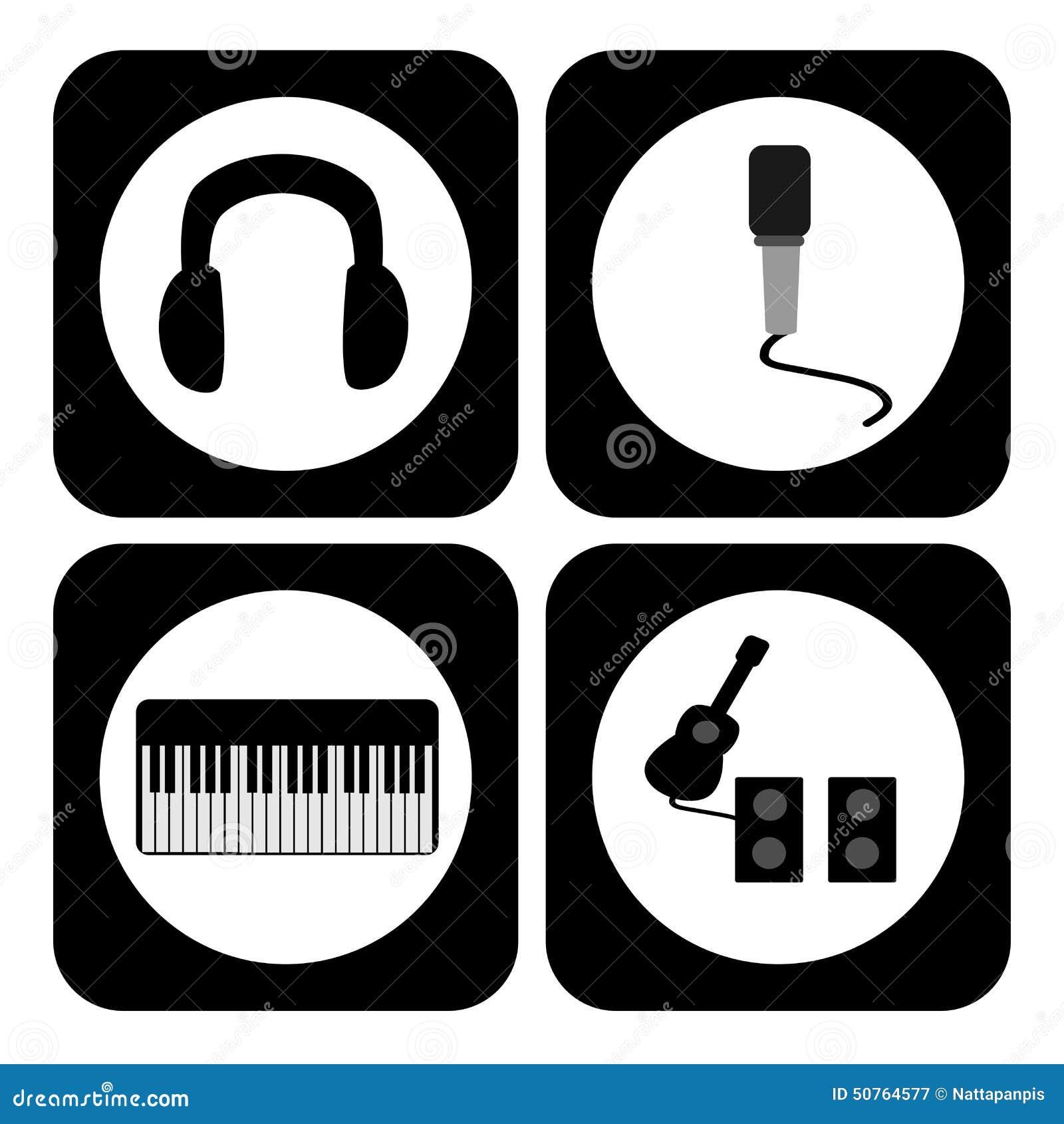 Music symbol stock vector illustration of musical guitar 50764577 music symbol biocorpaavc Images