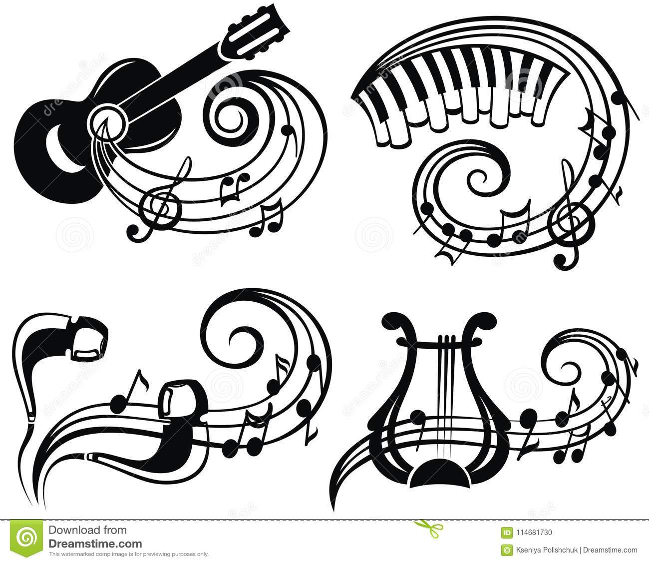 Music Symbol Vector Illustration For Your Design Stock Vector