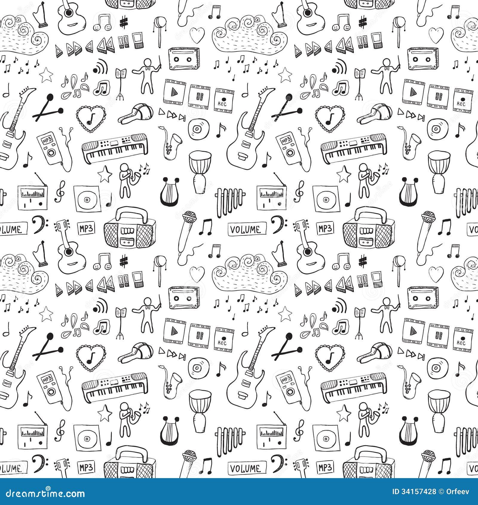 Music symbols stock vector illustration of guitar artistic music symbols royalty free stock photo buycottarizona