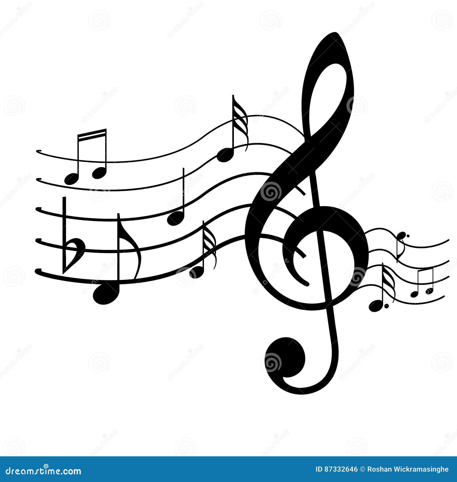 Music Symbols Design Stock Vector Illustration Of Bars 87332646