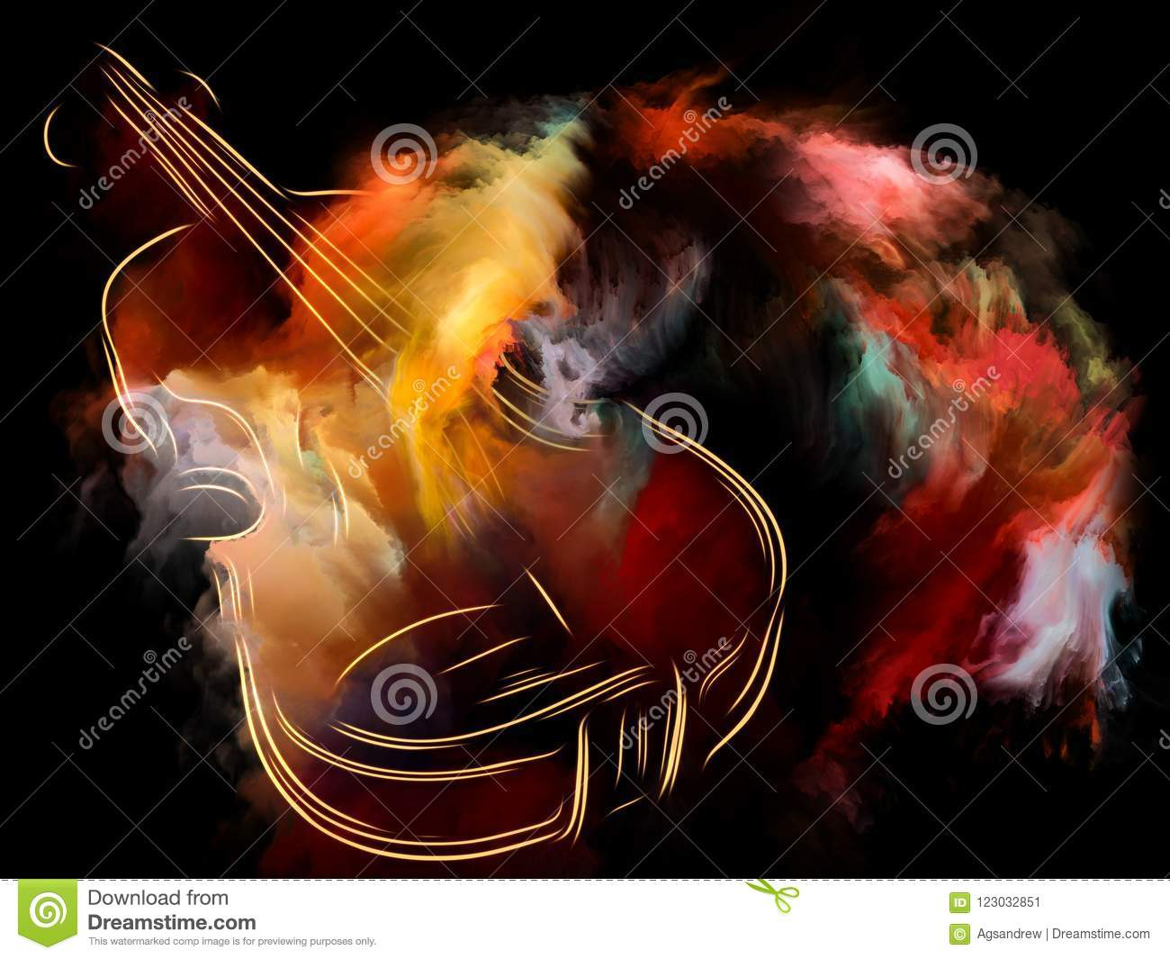 Colors Of Music Stock Illustration Illustration Of Ethereal 123032851