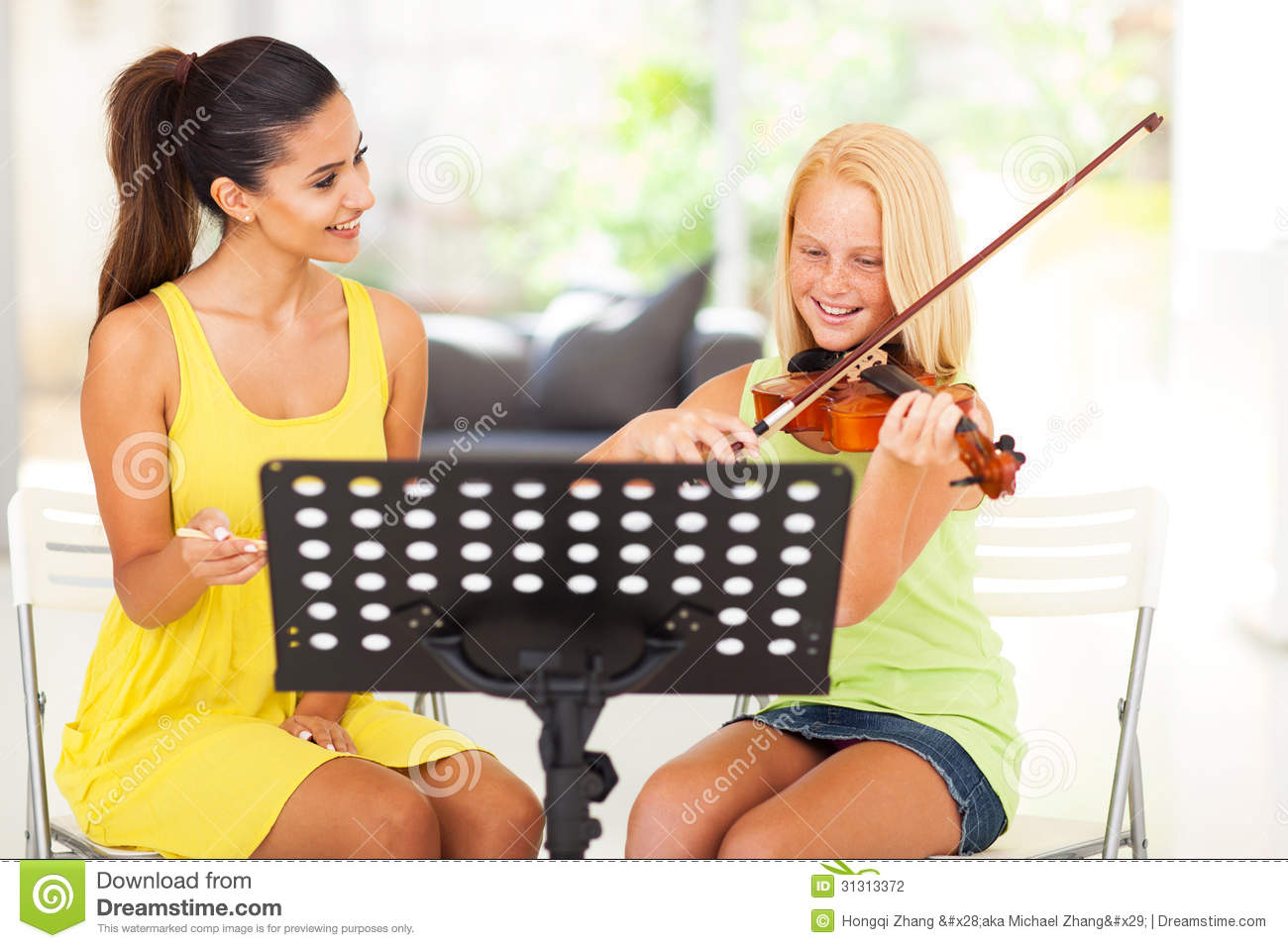 Music Teacher Tutoring Stock Photography Image 31313372