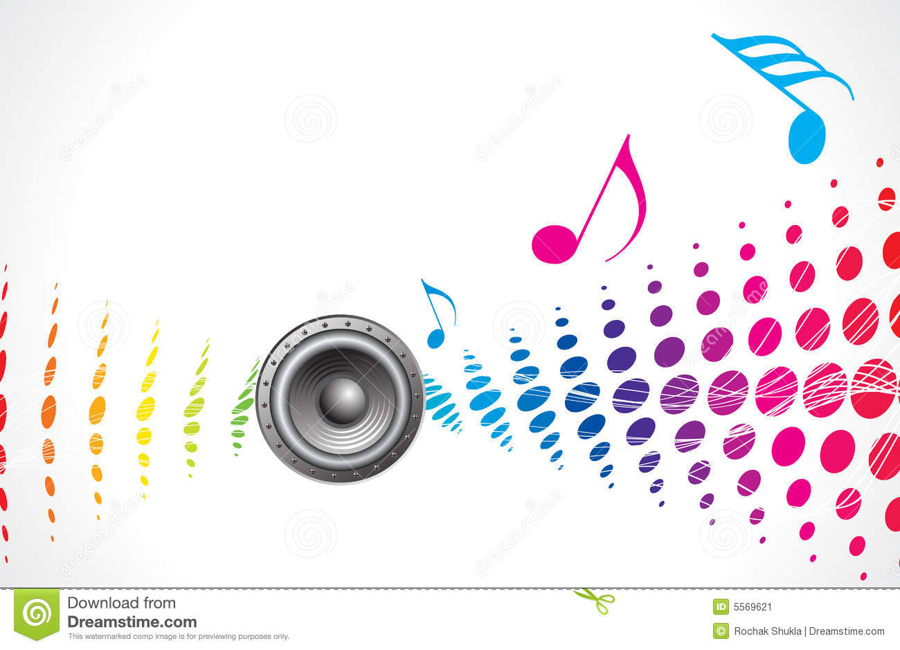 Music theme stock vector. Image of element, loudspeakers