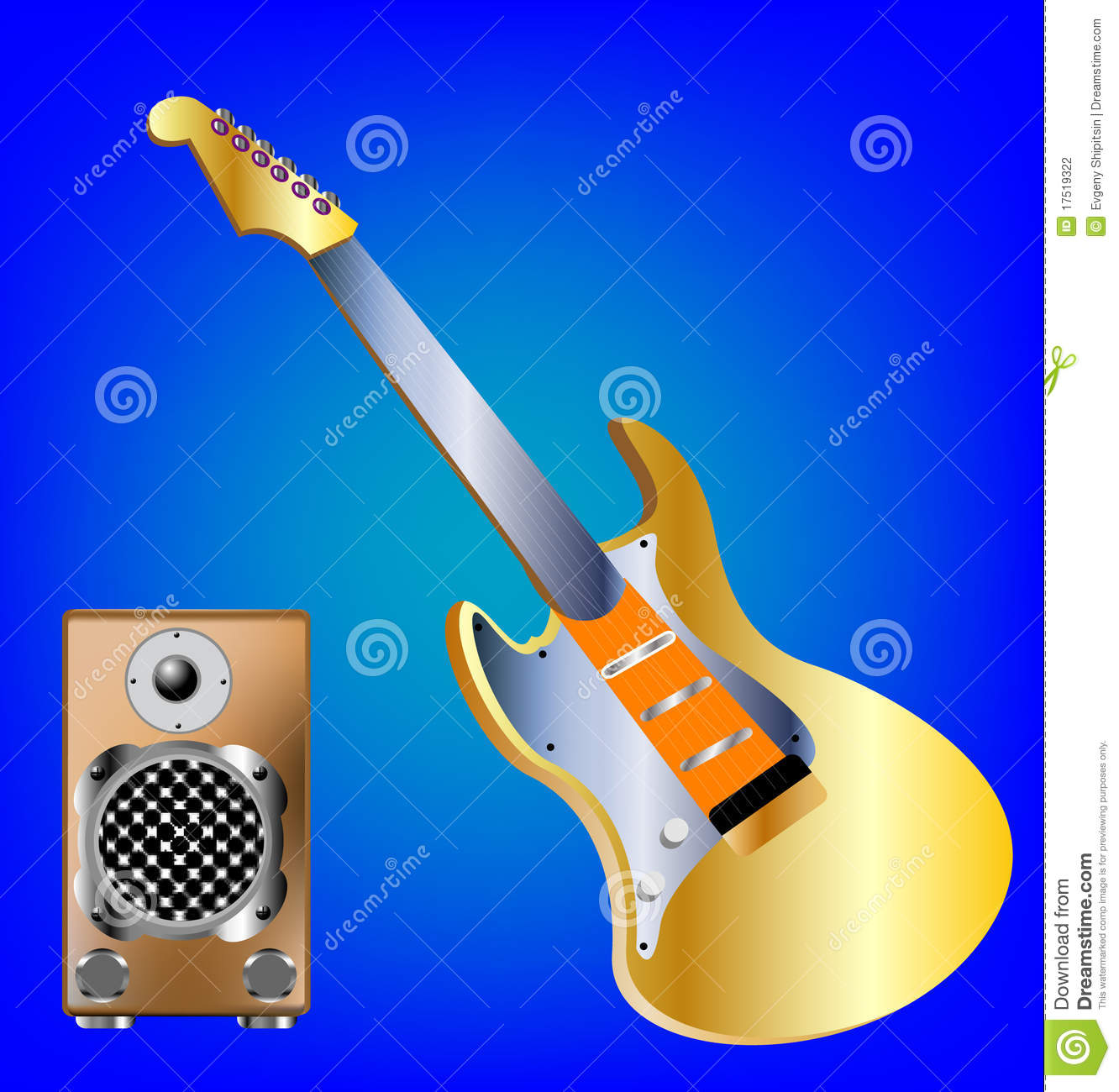 Music Tools Guitar And Amplifier Stock Photography - Image ...
