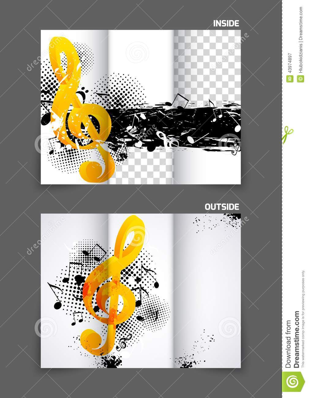 Music Tri Fold Brochure Vector Image 43974897 – Music Brochure