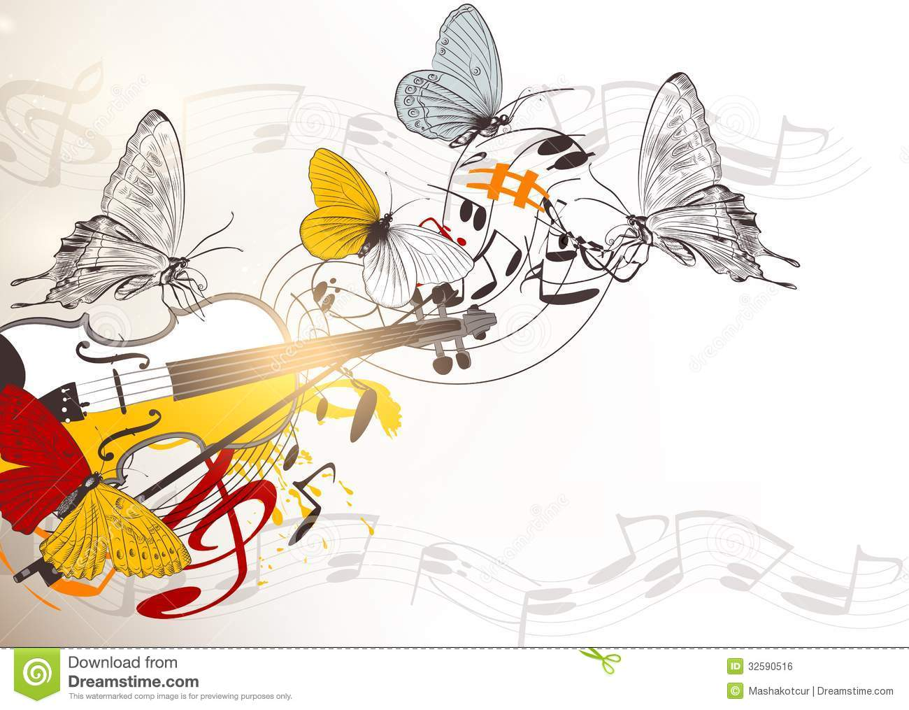 Music vector background stock vector  Illustration of play - 32590516