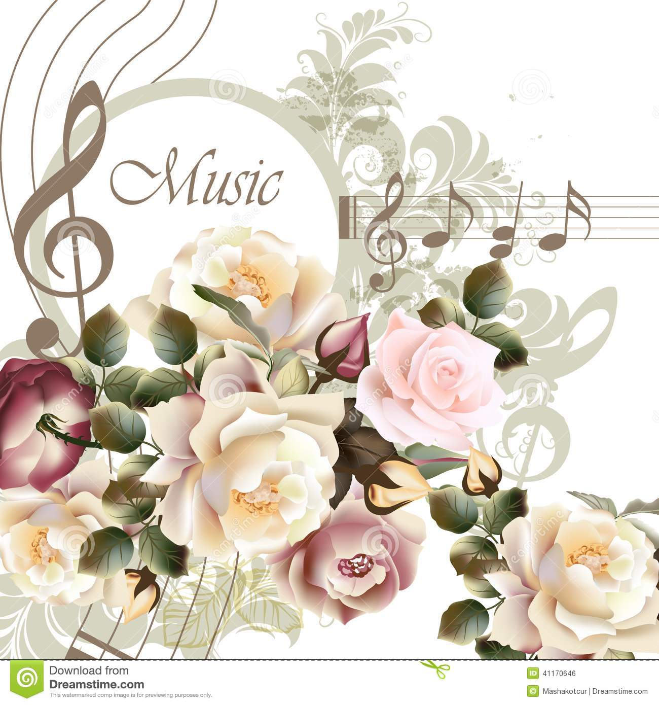 music notes backgrounds floral - photo #37