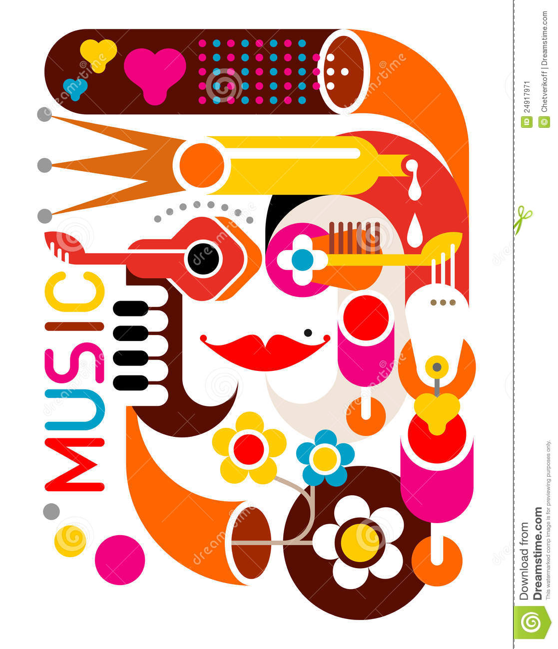 Music - Vector Poster Stock Image - Image: 24917971