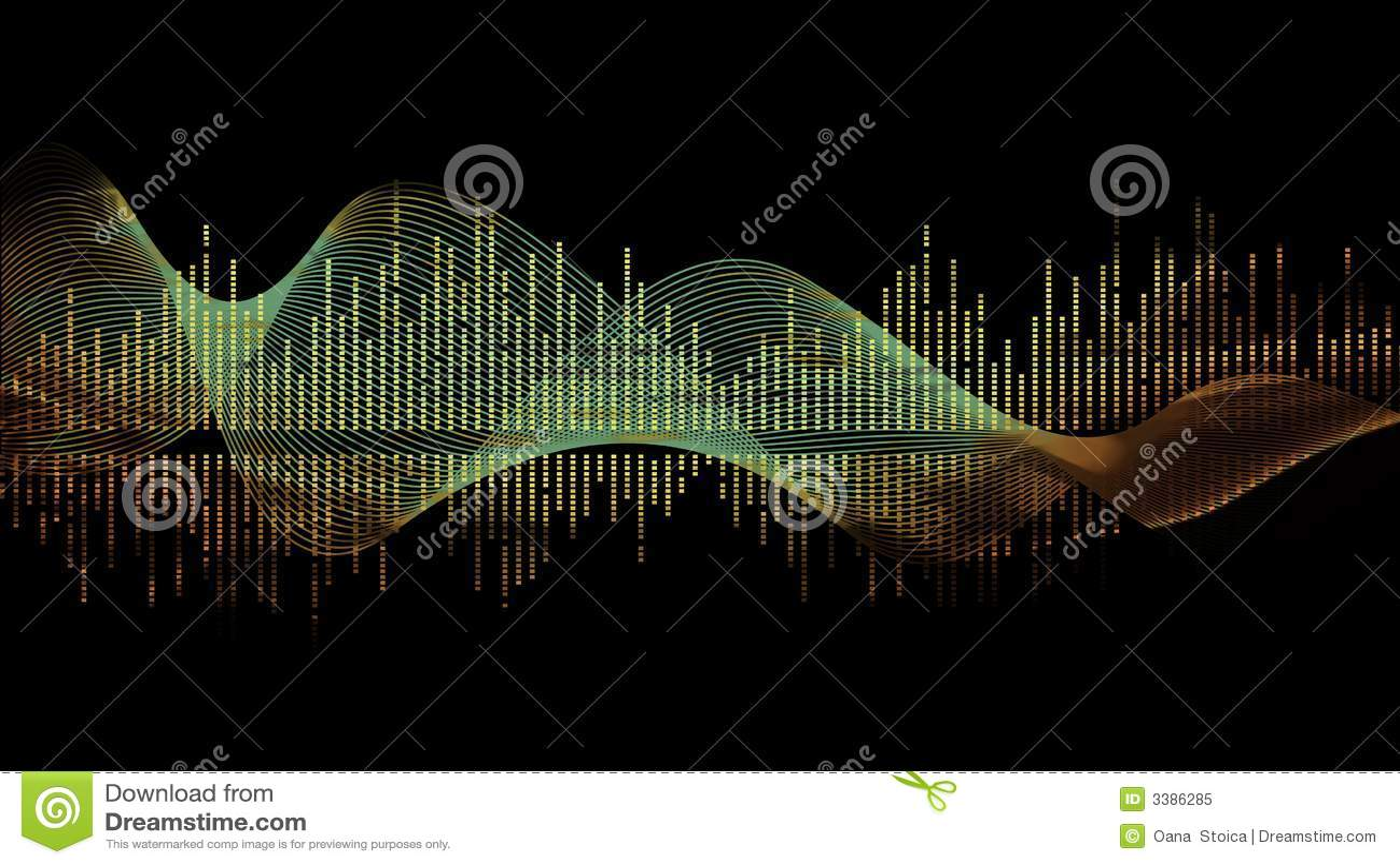 Music wave- green