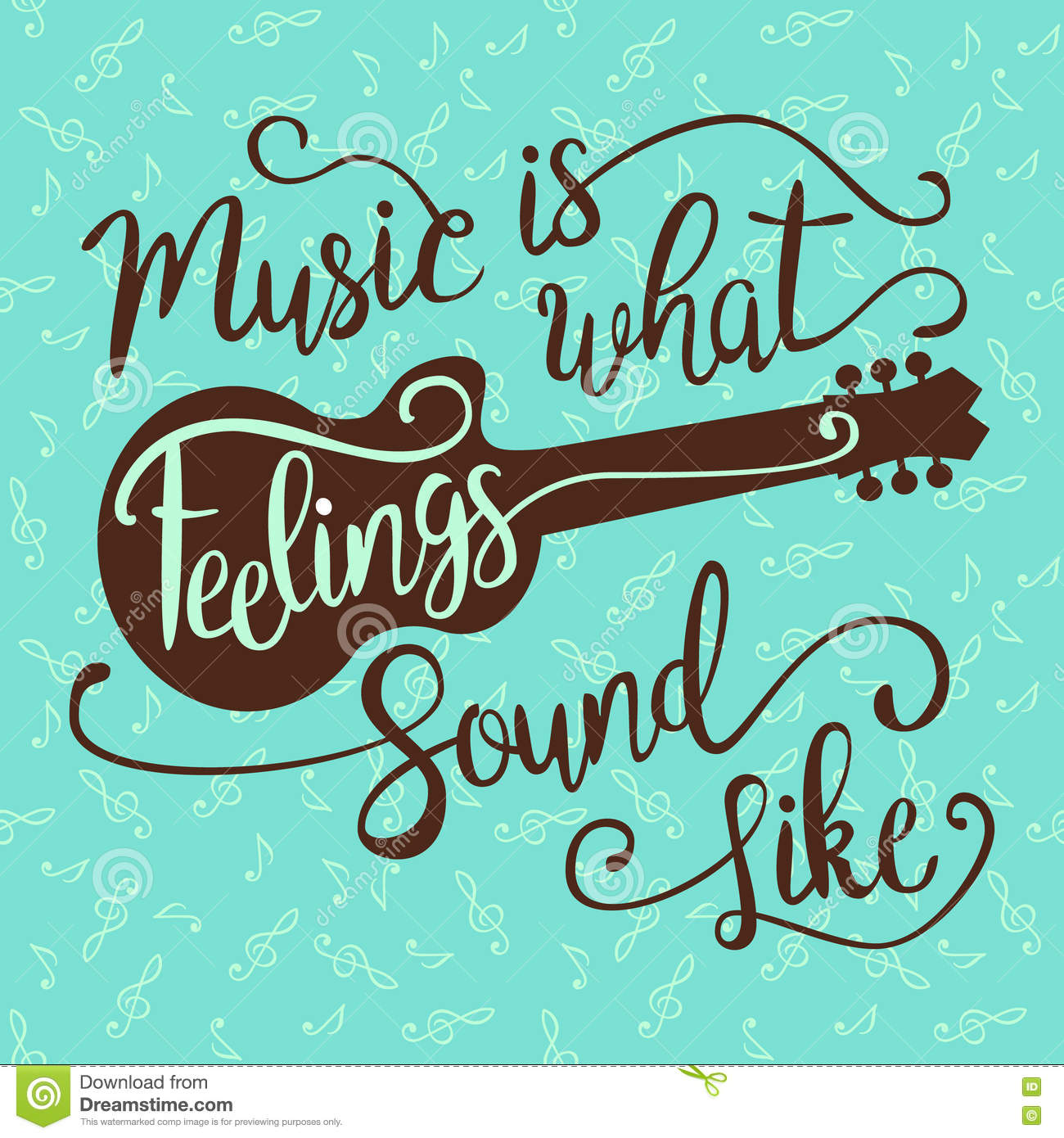 music is what feelings sound like stock vector image