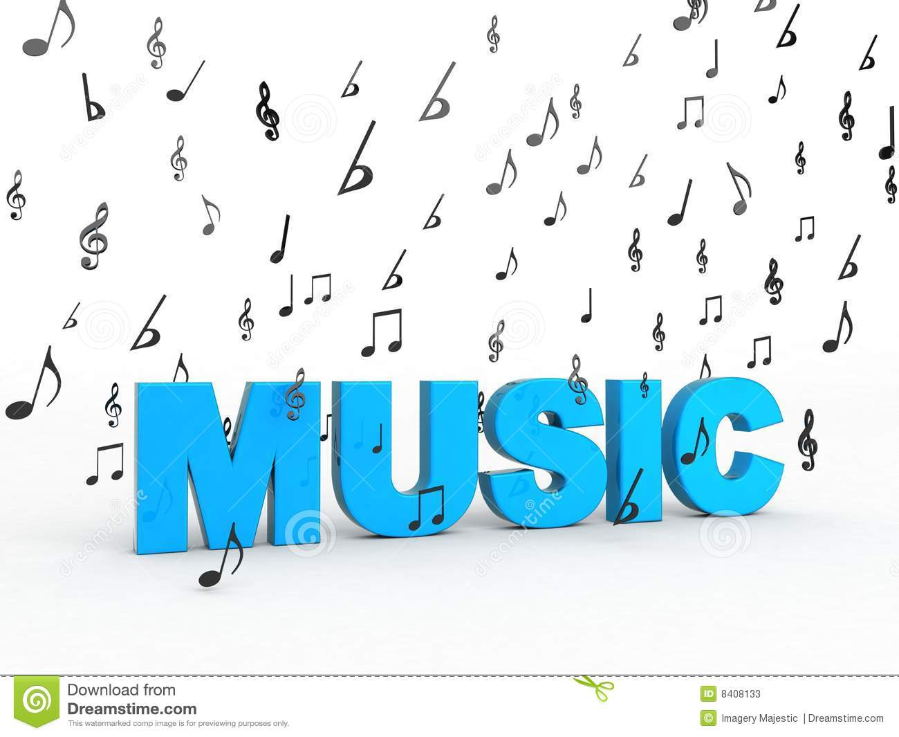 download music word with flying musical notes stock illustration illustration of melody object