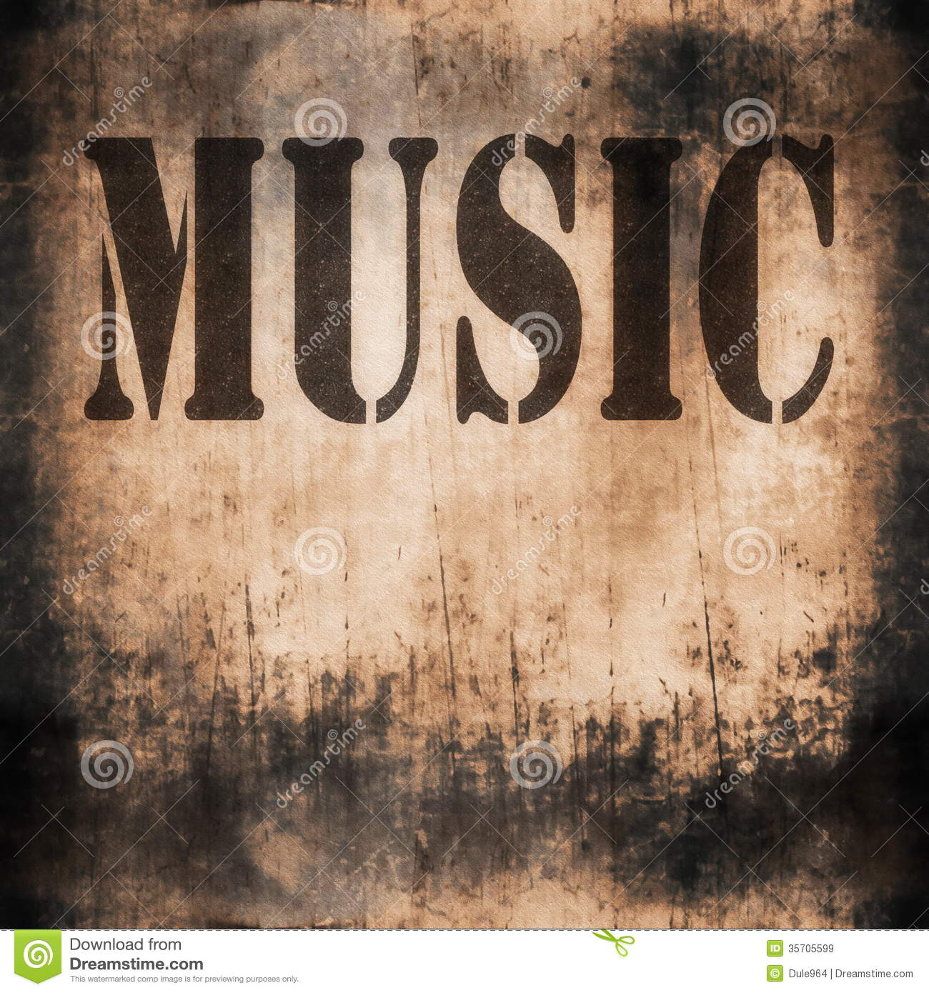 Music Word Old Rusty Wall Stock Image Image Of Noise