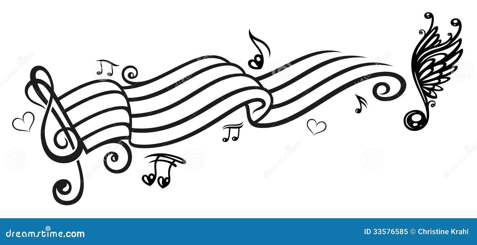 musica note di musica chiave illustrazione vettoriale