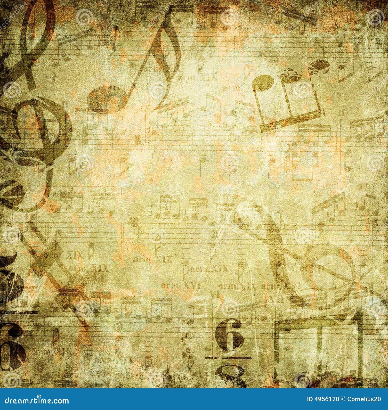 Musical Background Stock Photo - Image: 4956120