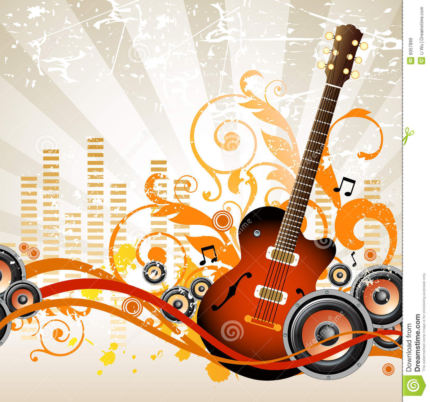 Musical Backgro... Free Clipart Of Christmas Tree