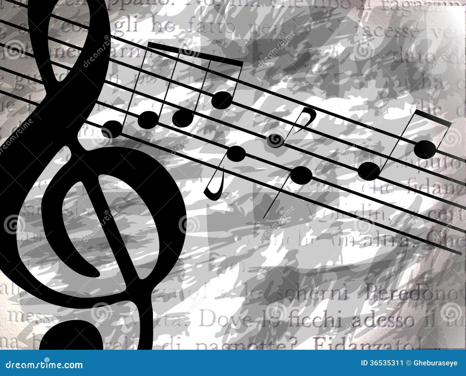 Amazing Musical Background With Notes Stock Image - Image: 36535311