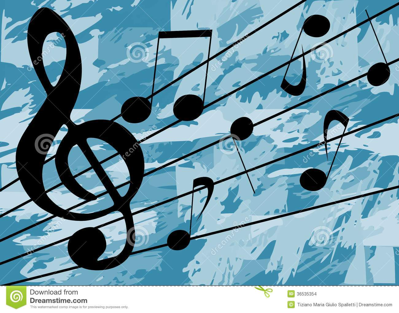 Colorful Musical Background With Notes Stock Images - Image: 36535354