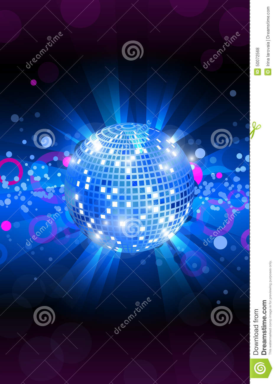 musical background blue  dance party flyer  vector stock