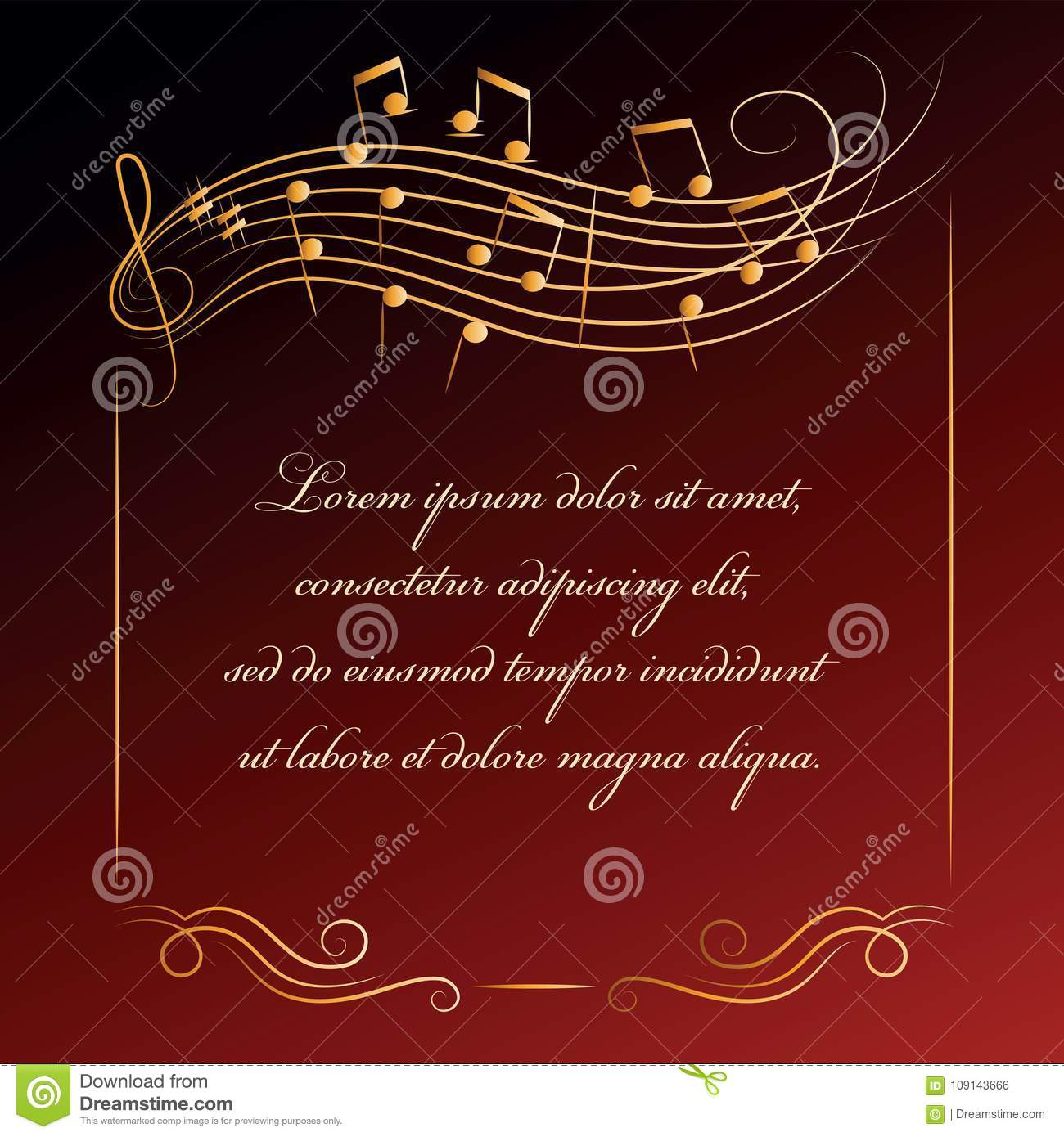 Musical Background Frame With Notes Stock Vector