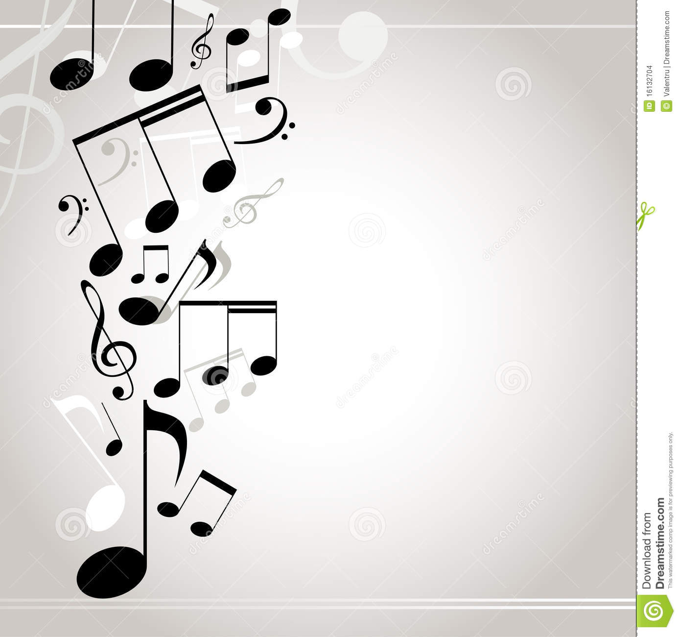 Musical Background Notes Stock Images Image 16132704