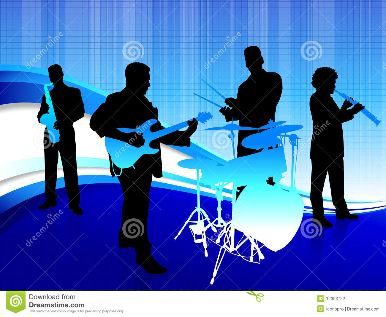 band musical background abstract clip vector illustration ideal concept preview yes fotosearch flute