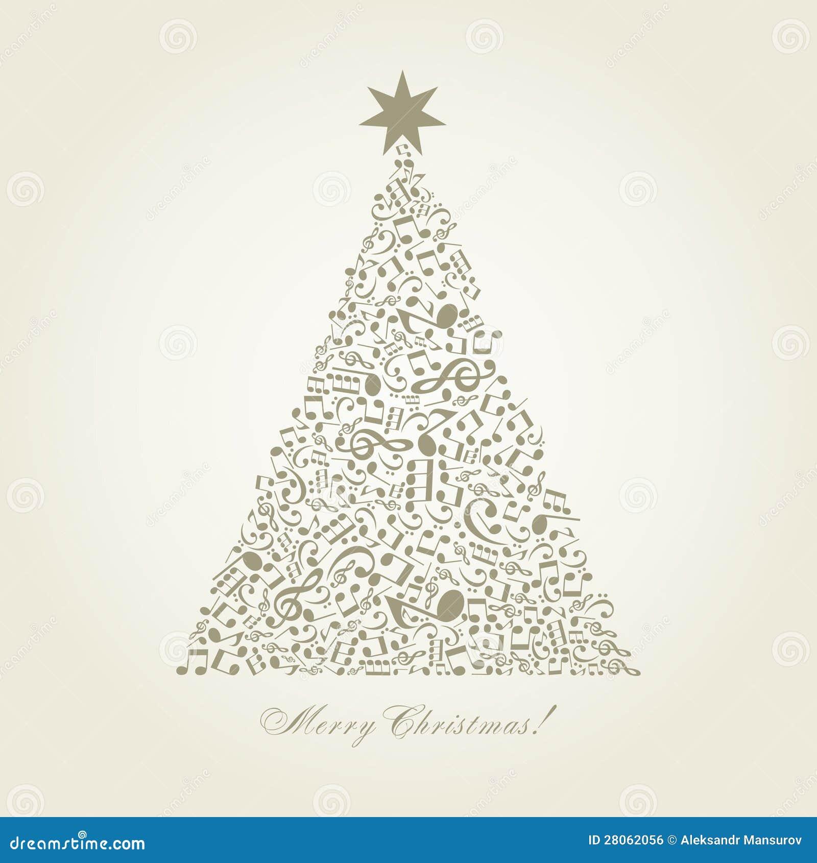 Musical Christmas Tree Royalty Free Stock Image - Image: 28062056