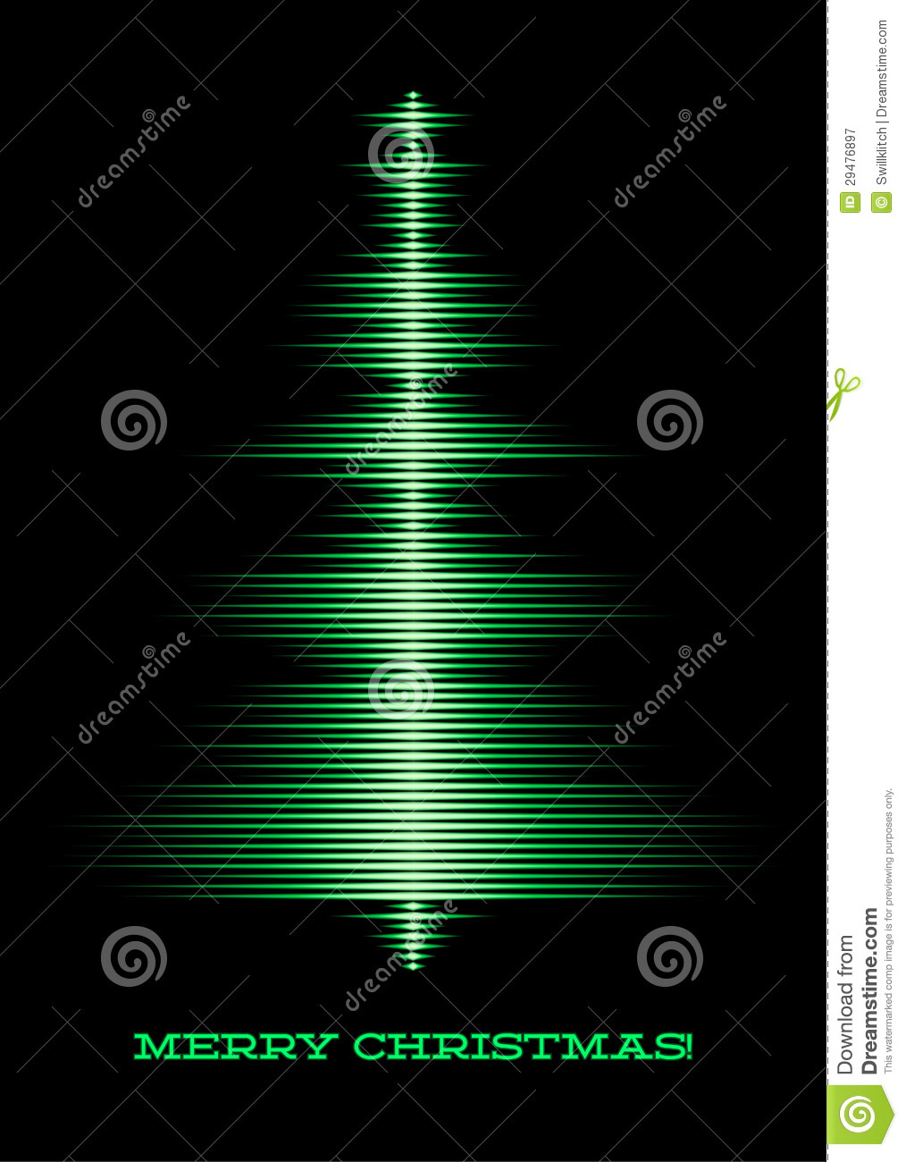 Musical Christmas Tree Card Stock Vector - Illustration of abstract ...