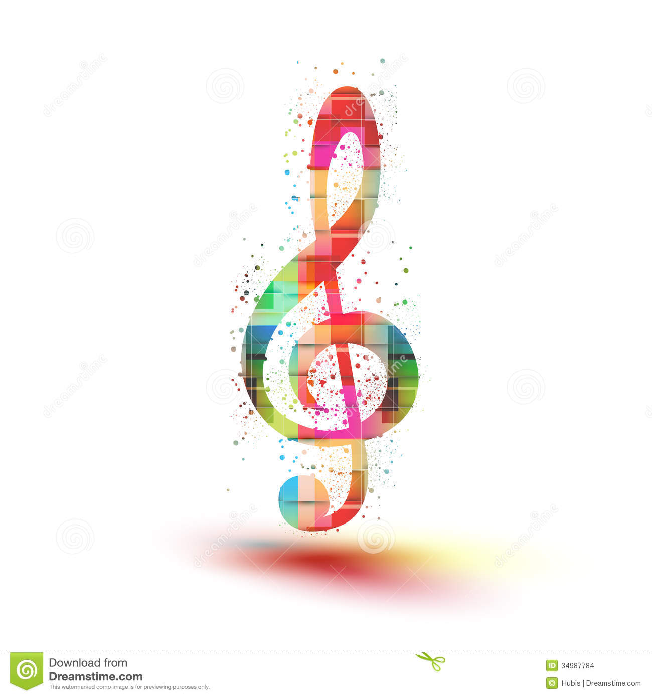 musical color notes background easy all editable stock
