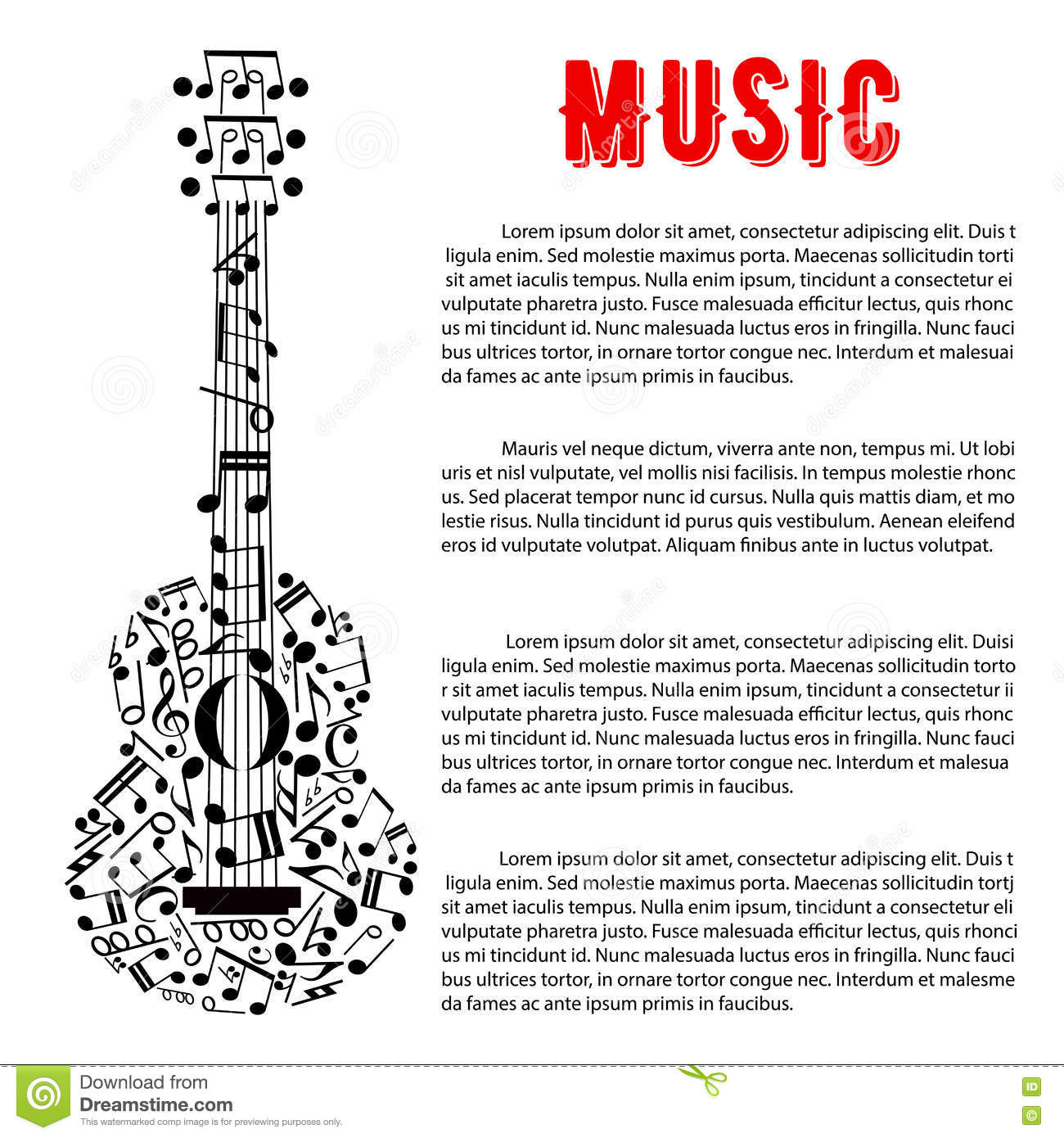 Poster design notes - Royalty Free Vector