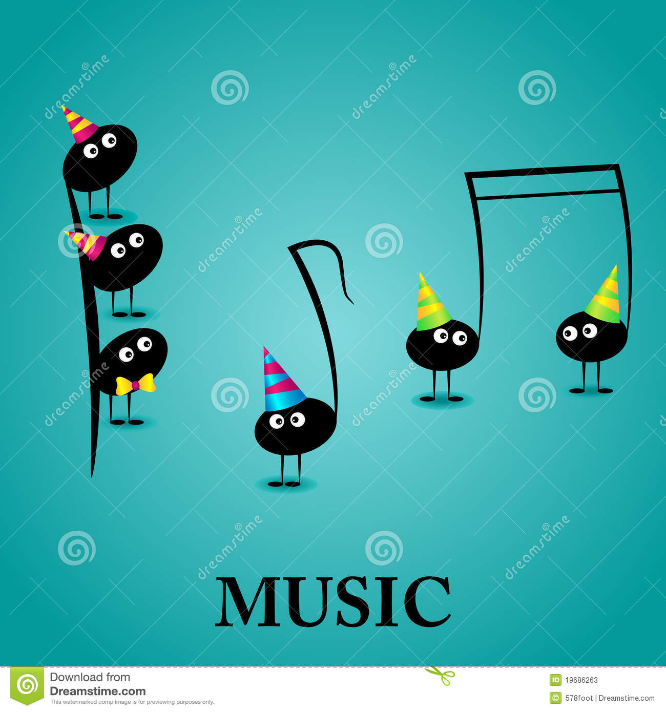Happy birthday vector card stock vector illustration of bird 49757585 musical greeting card stock photos kristyandbryce Choice Image