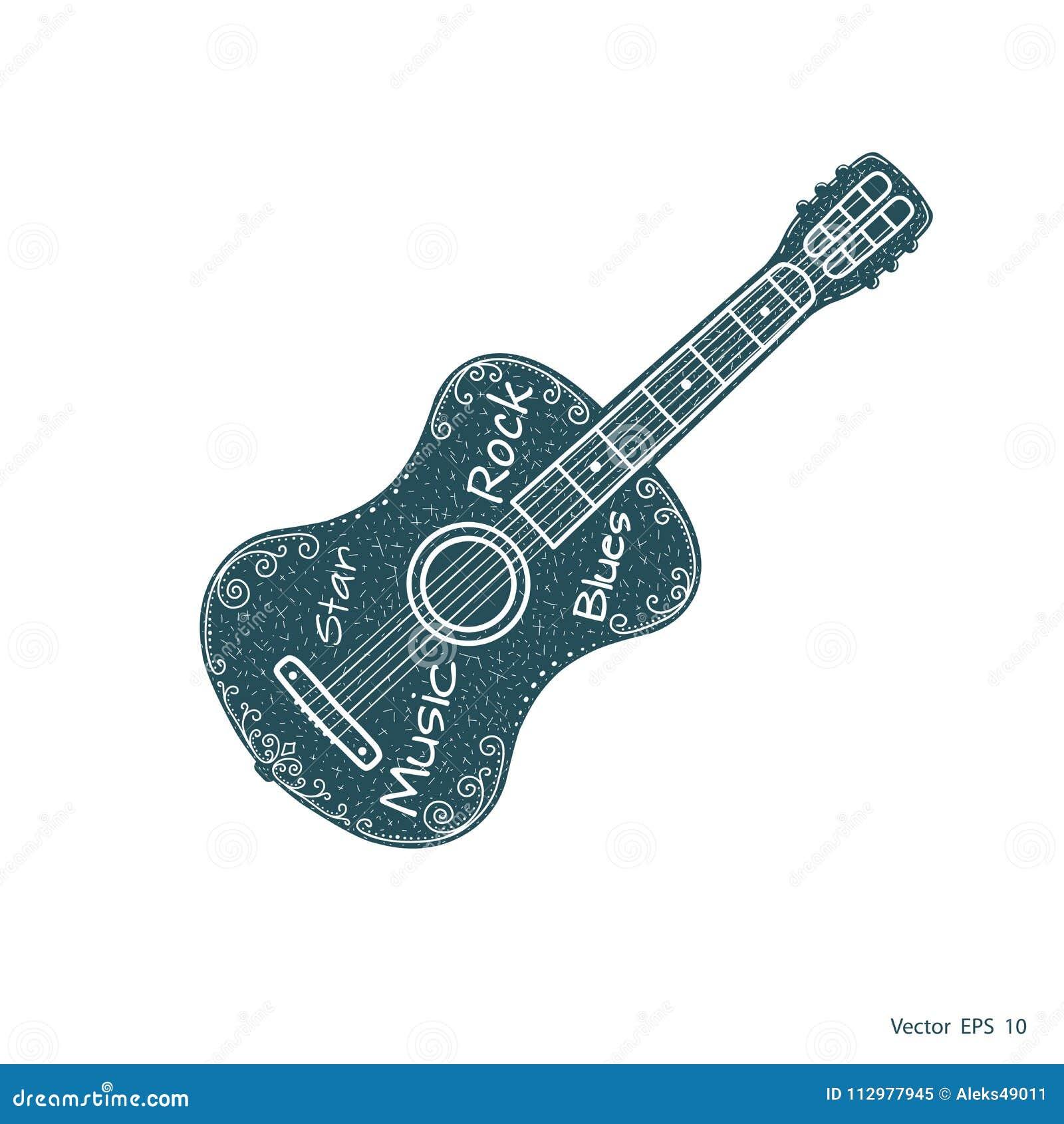 Musical Guitar . Acoustic Guitars vector