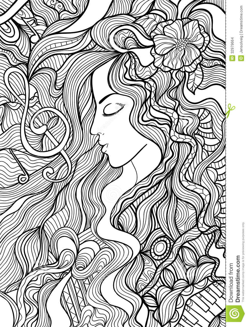 musical illustration stock images