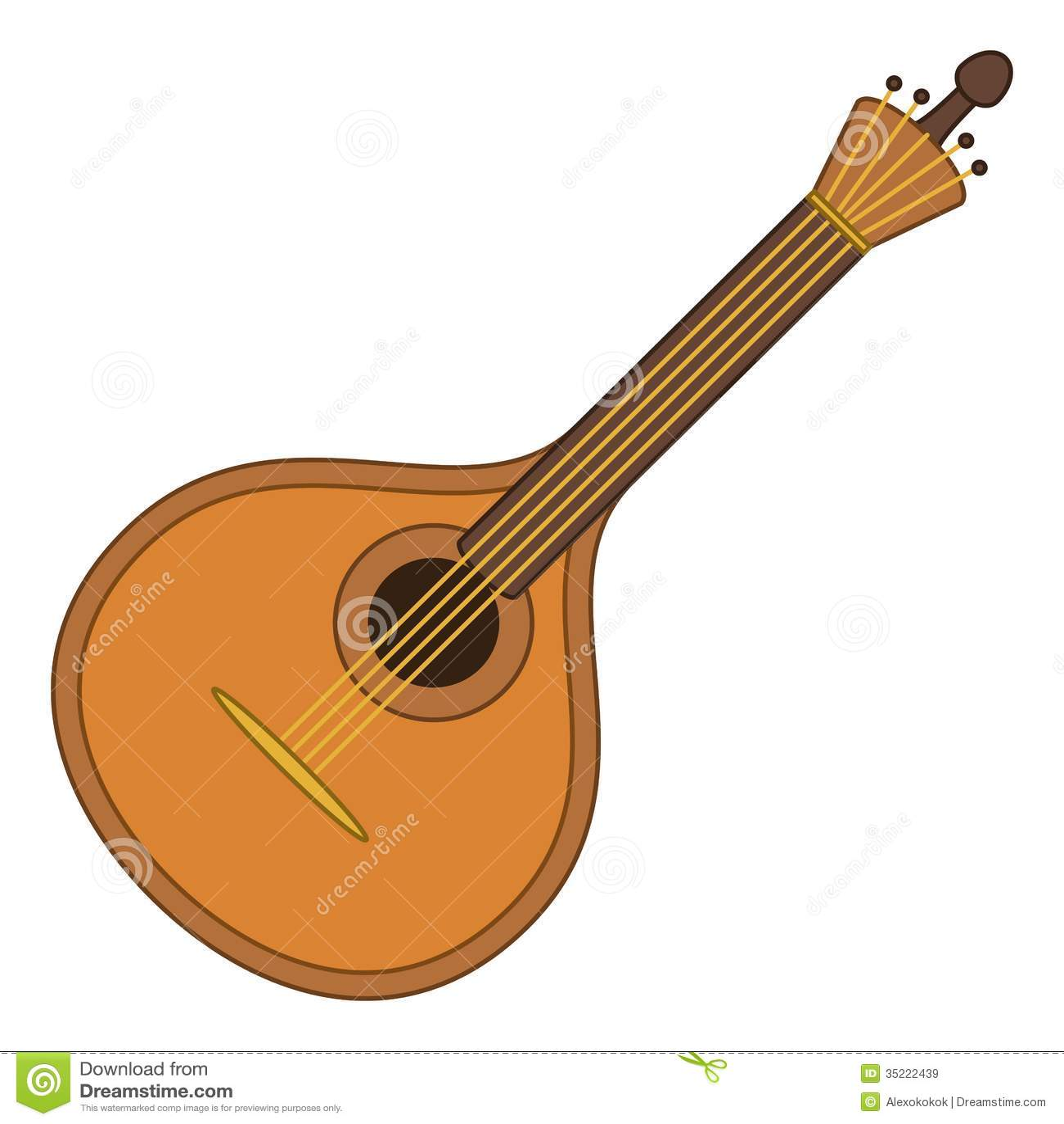 String Musical Instruments Mandolin stock illustrations, vectors ...