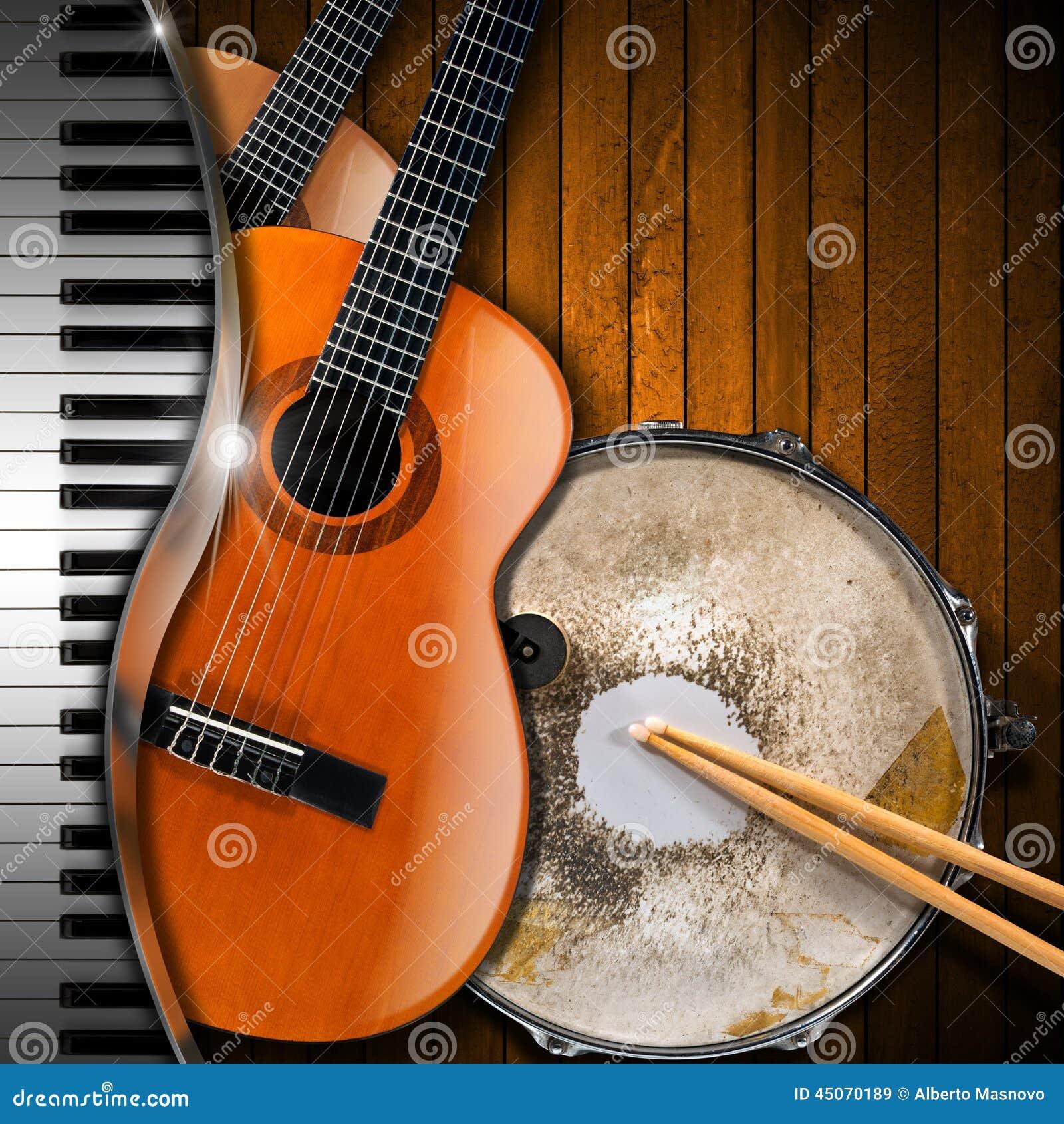 Acoustic guitar wall art
