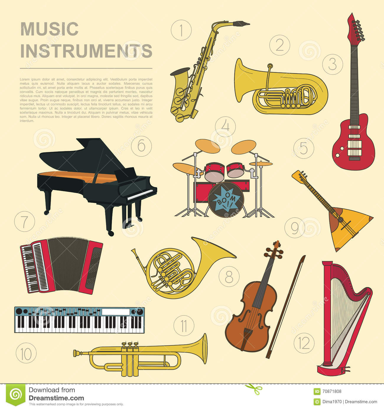 essay on types of musical instruments Free instruments papers, essays, and research papers it has been used for almost all types of music the guitar has made many cultural impacts on society.