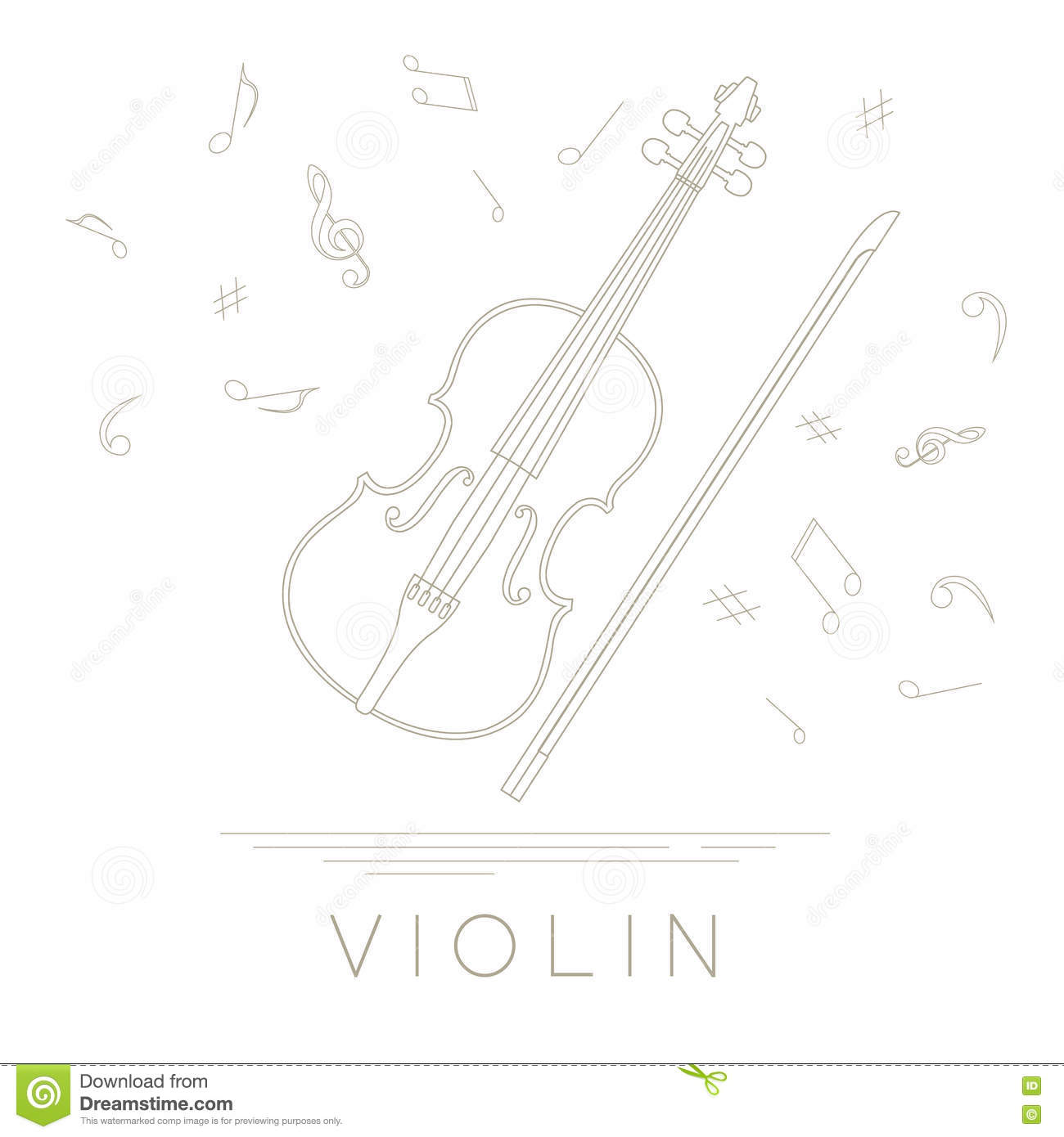 Violin Template   Musical Instruments Graphic Template Violin Stock Vector
